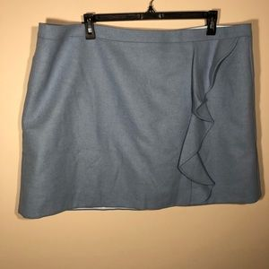 NWT J.Crew Mercantile Wool Blend Short Skirt SZ 22